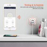 Prise Connectée WIFI, OxaOxe Prise Télécommande et Programmable, Compatible avec Alexa/Google Home/IFTTT, Mesure de Consommation d'énergie, 16A de la marque OxaOxe image 4 produit