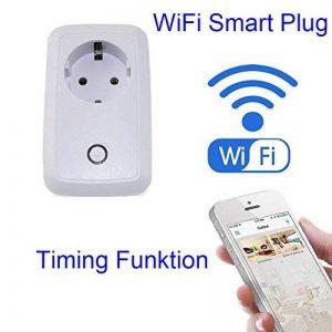 Prise de Courant Intelligente,Wifi Smart Socket Connectée Télécommande Commutateur d'alimentation Switch Interrupteur Domotique WIFI avec Minuteur pour Tablette et Smartphones APP(EU Prise IOS, Android) de la marque Seaidea image 0 produit