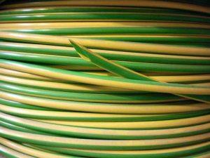 Prise de terre en PVC Fil de câble électrique Gaine Vert/jaune Différentes tailles et longueurs de la marque Hilltop image 0 produit