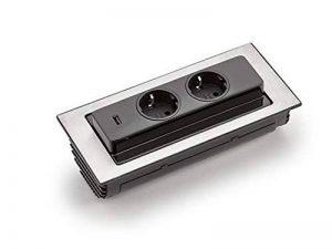 Prise encastrable Back Flip 215x 88mm repliable 2prises 1Chargeur USB * 549177 de la marque Schulte-Elektrotechnik GmbH & Co. KG image 0 produit