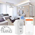 Prise intelligente - Atuten Smart Prise connectée Wifi Compatible avec Google Home/Amazon Alexa - no Hub requis, prises télécommandées, Distance WiFi de Minuterie Domotique de la marque Atuten image 2 produit