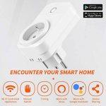 Prise Intelligente EXTSUD Prise Connectée WiFi Compatible avec Google Home Alexa Android iOS Prises Télécommandées Prise de Courant Mise en Veille Programmable (Lot de 3) de la marque EXTSUD image 1 produit