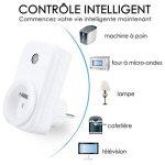 Prise intelligente, Smart Prise connectée Wifi compatible avec Google Home Amazon Alexa aucune hub requis prises télécommandées prise de courant mise en veille programmation LOT DE 1 de la marque ANOOPSYCHE image 1 produit