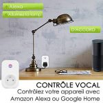 Prise intelligente, Smart Prise connectée Wifi compatible avec Google Home Amazon Alexa aucune hub requis prises télécommandées prise de courant mise en veille programmation LOT DE 1 de la marque ANOOPSYCHE image 2 produit