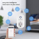 Prise Intelligente WiFi Prise Connectée Intelligente WiFi Prise Courant (lot de 1, blanc) de la marque HLT image 2 produit