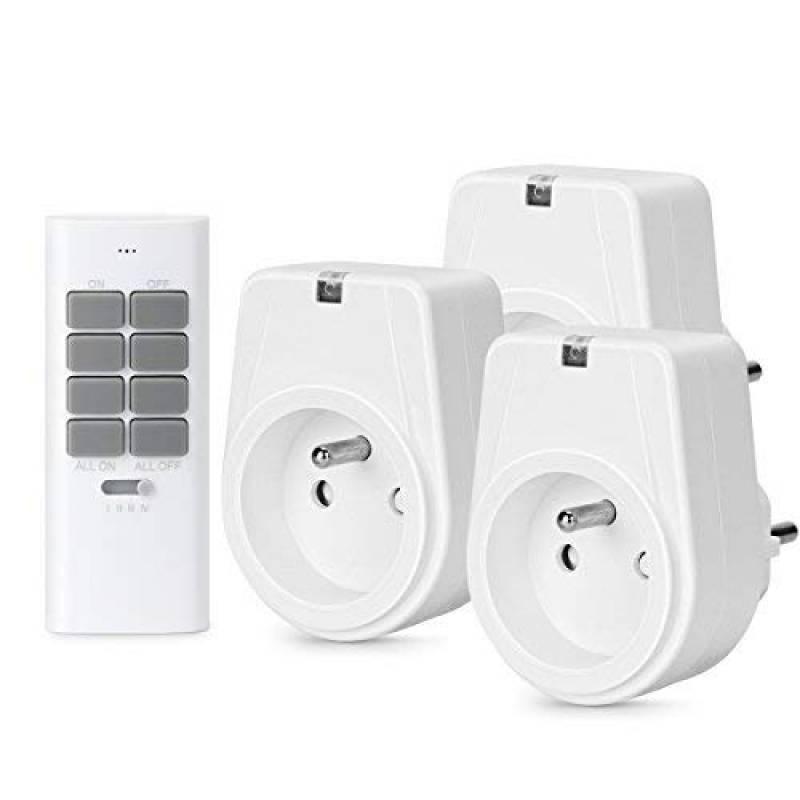 5X Commutateur d/'éclairage de prise électrique à télécommande sans fil FLOUREON