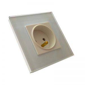 Prise murale 220V design Lumtouch en verre blanc - Garantie 5 ans de la marque Lumtouch image 0 produit