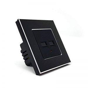 Prise murale encastrable USB 3.1A pour téléphone et tablettes iOS et Android - Double prise USB design Lumtouch - Modèle en aluminium noir de la marque Lumtouch image 0 produit