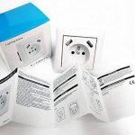 Prise murale USB secteur pré-câblée double chargeur 2.8A normes françaises de la marque Lighting Arena image 4 produit