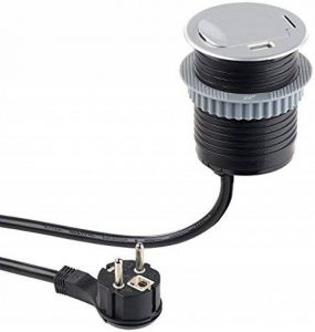 PriserevoltTable avec prise de courant avec port USB et standard, 60mm de diamètre (prise encastrable) de la marque revolt image 0 produit