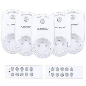 Prise Télécommandée Floureon, Kit de 5 Prises Programmables sans Fil à Distance avec 2 Télécommandes à Portée de 30m pour Électroménagers - Blanc de la marque FLOUREON image 0 produit