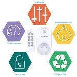 Prise Télécommandée Floureon, Kit de 5 Prises Programmables sans Fil à Distance avec 2 Télécommandes à Portée de 30m pour Électroménagers - Blanc de la marque FLOUREON image 1 produit
