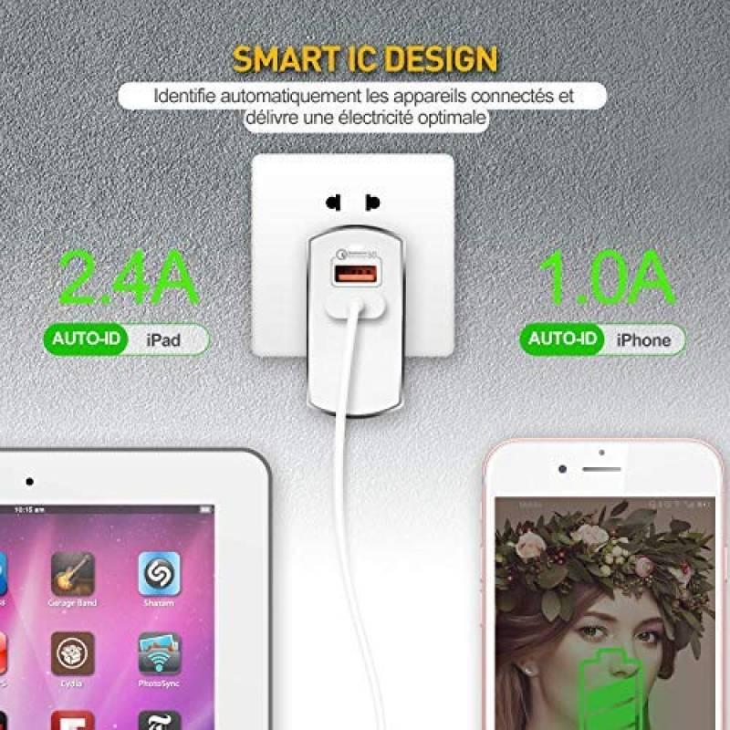 GAO g-Homa Les smarte WiFi avec Application de Commande /à Distance pour iOS et Android Blanc eMW302WF