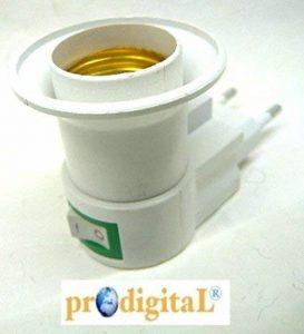 Prodigital Transformateur de douille pour ampoule E27, avec prise et interrupteur de la marque prodigital image 0 produit