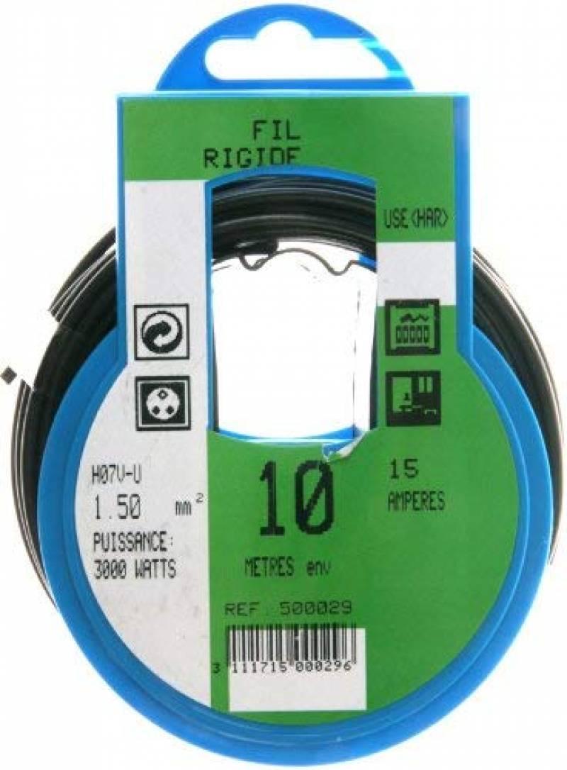 /Couleur: Bleu fonc/é 10/m 10/m/ètres 57510/C/âble conducteur/ /H07/V-U Fil conducteur 1,5/mm/²/ /Simple Conducteur fix/é C/âble de PVC/