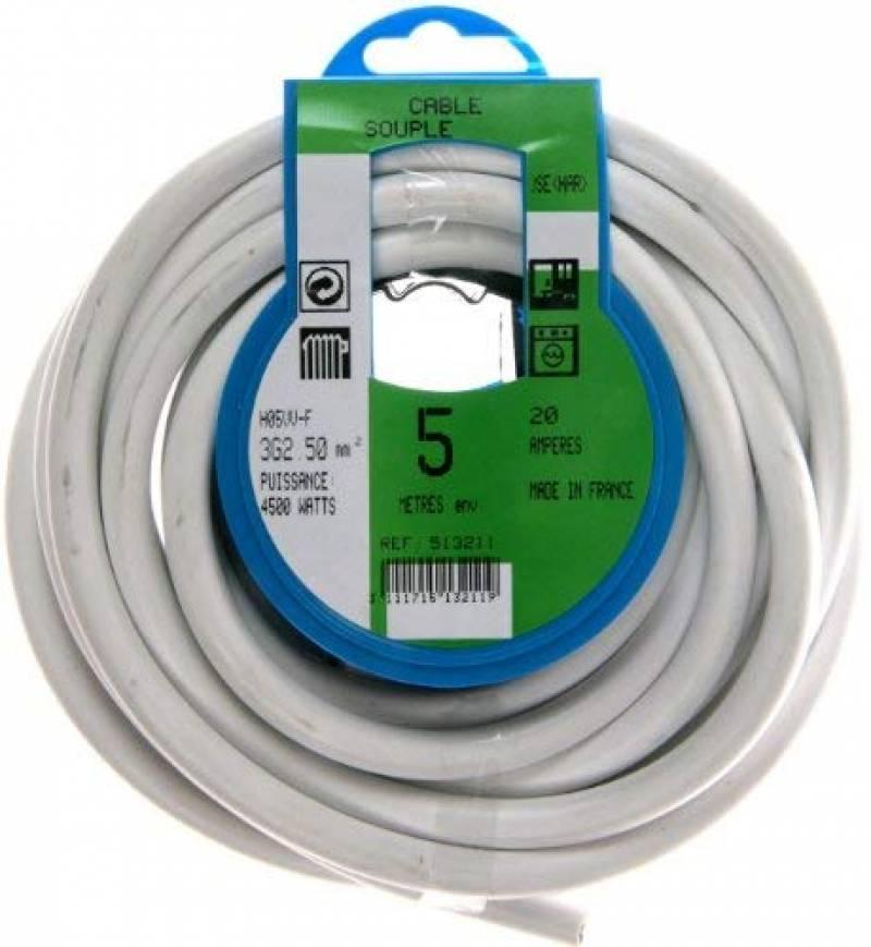 Electraline 11821 Couronne de Cable H05 VV-F 3G2,5 10M Noir
