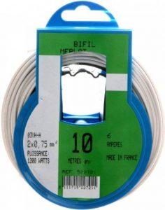 Profiplast PRP522721 Couronne de câble 10 m ho3vhh 2 x 0,75 mm Blanc de la marque Profiplast image 0 produit