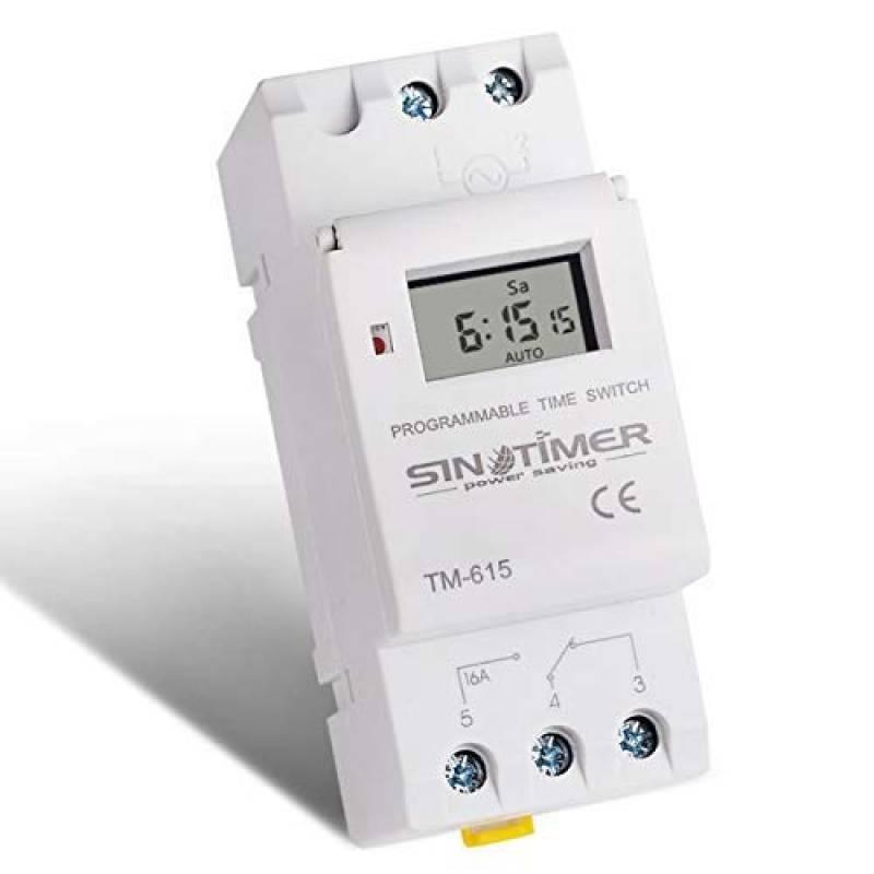 blanc Sairis SINOTIMER 220V Hebdomadaire 7 jours Programmateur num/érique Programmateur de relais pour appareils /électriques 8 R/églage ON//OFF