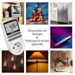 Programmateur Prise Electrique à 10 Programmes 24H/7 Prise Programmable Digitale économiser électricité Minuteur Prise Electrique Digital mode aléatoire Antivol (paquet de 2) de la marque NOVKIT image 3 produit