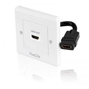 PureLink PI100 Prise HDMI High Speed PureInstall avec canal Ethernet prise HDMI A vers HDMI A longueur 0,1 m de la marque PureLink image 0 produit