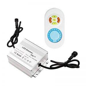 QACA Dimmer Contrôleur de la Luminosité de LED Lumière, Télécommande Interrupteur Variateur for LED de Couleur Simple DC 12V -24V Distance de Télécommande 10m de la marque QACA image 0 produit