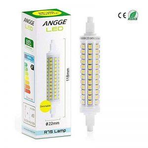 R7S 10W LED Ampoule - ANGGE 10W R7S 118mm LED Dimmable Lampe 96 2835 SMD LEDs Ampoules Blanc Froid 6000K Replaces 100-150W Halogen Floodlight Spotlight Éclairage [AC 220-240V,360 degrés Angle de faisceau] [Classe énergétique A+] - Cool White de la marque image 0 produit