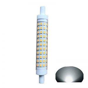 R7S LED 118 mm Ampoule à intensité variable 10 W Lumière J118 100 W halogène de remplacement ampoules lumière du jour 6000 K 230 V 1000LM à double extrémité J Type 11,9 cm Projecteur Spots, R7s, 10.00W 230.00V de la marque qlee image 0 produit
