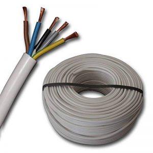 Raccordement de cuisinière H05VV-F 5G2,5mm²–5X 2,5mm²–Blanc–5m/10m/15m de la marque EBROM image 0 produit