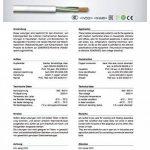 Raccordement pour Cuisinière 5g, 5Fil, fil section 1,5et 2,5mm², longueur et qurschnitt au choix, Blanc de la marque XBK- KABEL image 1 produit