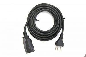 Rallonge–Prise/Fiche suisse, 10A, Suisse, câble, 3x 1, 5mt de la marque ELECtROLinE image 0 produit