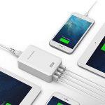 RAVPower Chargeur USB Secteur Universel 4 Ports USB (Sortie 40W/8A 5V, Technologie iSmart, 110-240V) Adapteur Secteur USB Chargeur de Voyage pour iPhone XS / XS Max / XR / 8- Blanc de la marque RAVPower image 4 produit