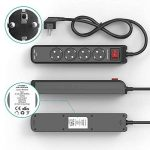 RAVPower Multiprises Parasurtenseur Rallonge 4 Prises avec 2 Ports USB iSmart + Interrupteur Dispositif Longueur 1.5 m et Encoches de Fixation (Intensité de Sortie Totale 3.1A - Noir) de la marque RAVPower image 4 produit
