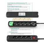 RAVPower Multiprises Parasurtenseur Rallonge 4 Prises avec 2 Ports USB iSmart + Interrupteur Dispositif Longueur 1.5 m et Encoches de Fixation (Intensité de Sortie Totale 3.1A - Noir) de la marque RAVPower image 2 produit