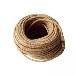 Reachyea Reachyea vintage Corde textile fils ronds câble tressé Fil électrique 2* 0.75mm de longueur 5metre de la marque REACHYEA image 0 produit