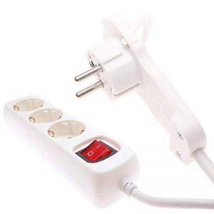 REV ritter multiprise avec connecteur plat 3 prises avec interrupteur blanc 2 m de la marque Menz Stahlwaren GmbH image 0 produit