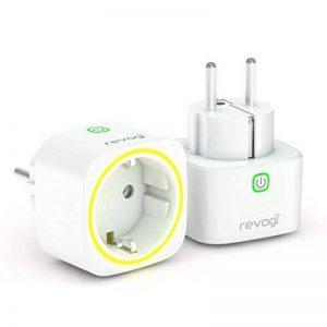 Revogi Smart mètres Indicateur de consommation prise Bluetooth 4.0Économe en énergie sans fil sortie Android 4.3Compatible iOS 6überstromschutz Anti intrus Mode Programmateur de la marque Revogi image 0 produit