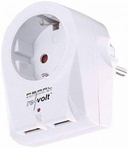 revolt Chargeur USB:adaptateur de prise 2in1 à 2ports USB, 2,1A, protection anti-surtension (prise de charge) de la marque revolt image 0 produit