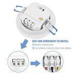 Richer-R Capteur PIR Interrupteur LED encastrer à 360 °, Automatique AC 85-265V Infrarouge Commutateur PIR Détecteur de Mouvements avec temporisation pour Les couloirs, Les sous-sols, Les entrepôts de la marque Richer-R image 4 produit