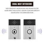 Richer-R Sonnette sans Fil, 2,4 GHz Carillon de Porte sans Fil, Dual-Way Intercom, Microphone et Haut-Parleur intégrés pour la Maison, l'usine, l'hôtel, Le marché de la marque Richer-R image 2 produit