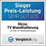 RICOO R23 Support TV Mural orientable inclinable Meuble de téléviseurs suspendu PC Plasma Smart OLED incurvé fixation murale télé LED LCD 3D 4K max VESA 400x400 universel toutes marques de televiseur de la marque RICOO image 1 produit