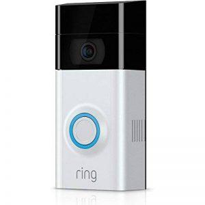 Ring Video Doorbell 2 - Sonnette vidéo 1080 HD avec système audio bidirectionnel, détection de mouvement et connexion wi-fi, Nickel Satiné de la marque Ring image 0 produit