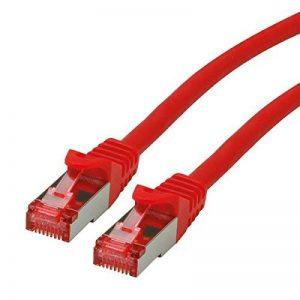ROLINE Cordon LAN Cat 6 - Component Level - Câble réseau S/FTP Ethernet avec connecteur RJ45 - rouge 10 m de la marque ROLINE image 0 produit