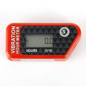 Runleader RL-HM016B Vibration compteur horaire avec sans fil pour tous les VTT de moteur à essence UTV dirtbike motobike motocycle outboards motoneige pitbike PWC bateau marin étanche (red) de la marque Runleader image 0 produit
