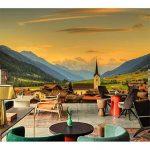 Rureng Personnalisé 3D Papier Mural Épuré Suisse Maisons Ciel Montagnes Nature Papier Peint Salon Canapé Tv Mur Chambre Mur Papier-250X175Cm de la marque Rureng image 1 produit