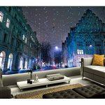 Rureng Personnalisé 3D Peintures Murales Suisse Maisons Hiver Noël Rue Nuit Fonds D'Écran Salon Canapé Tv Mur Chambre Murale-150X120Cm de la marque Rureng image 1 produit
