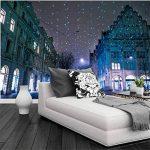 Rureng Personnalisé 3D Peintures Murales Suisse Maisons Hiver Noël Rue Nuit Fonds D'Écran Salon Canapé Tv Mur Chambre Murale-150X120Cm de la marque Rureng image 2 produit