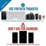 Sabrent 4-Port Hub USB 2.0 avec des commutateurs et des voyants d'alimentation individuels (HB-UMLS) de la marque Sabrent image 1 produit