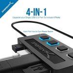 Sabrent 4-Port Hub USB 2.0 avec des commutateurs et des voyants d'alimentation individuels (HB-UMLS) de la marque Sabrent image 2 produit