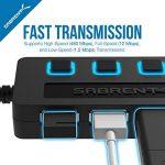 Sabrent 4-Port Hub USB 2.0 avec des commutateurs et des voyants d'alimentation individuels (HB-UMLS) de la marque Sabrent image 3 produit