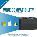 Sabrent 4-Port Hub USB 2.0 avec des commutateurs et des voyants d'alimentation individuels (HB-UMLS) de la marque Sabrent image 4 produit